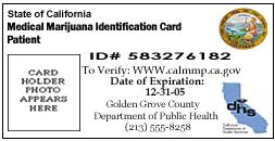 Image of Medical Marijuana ID Card